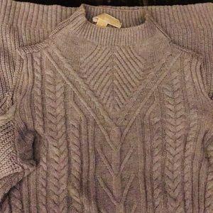 Michael Kors Grey cold shoulder sweater